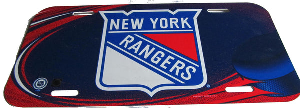 New York Rangers license plate - Sports Nut Emporium