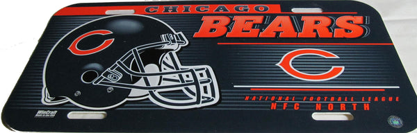 Chicago Bears license plate - Sports Nut Emporium