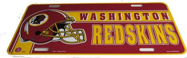 Washington Redskins  license plate - Sports Nut Emporium