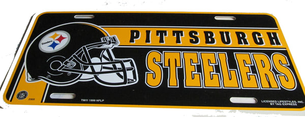 Pittsburgh Steelers license plate - Sports Nut Emporium