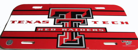 Texas Tech license plate - Sports Nut Emporium