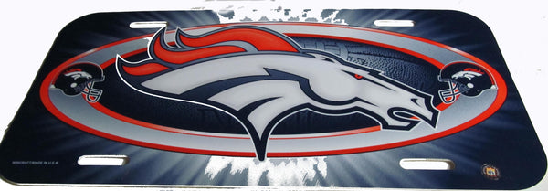 Denver Broncos license plate - Sports Nut Emporium