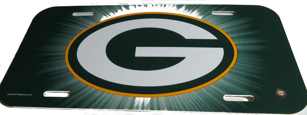 Green Bay Packers license plate - Sports Nut Emporium