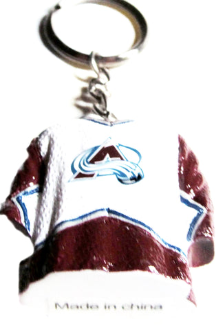 Colorado Avalanche  jersey key ring - Sports Nut Emporium