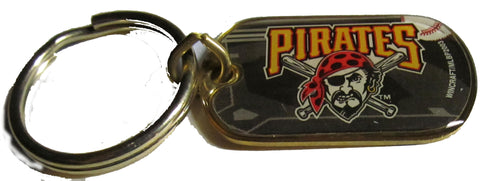 Pittsburgh Pirates dog tag  brass key ring - Sports Nut Emporium