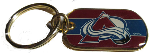 Colorado Avalanche dog tag key ring - Sports Nut Emporium