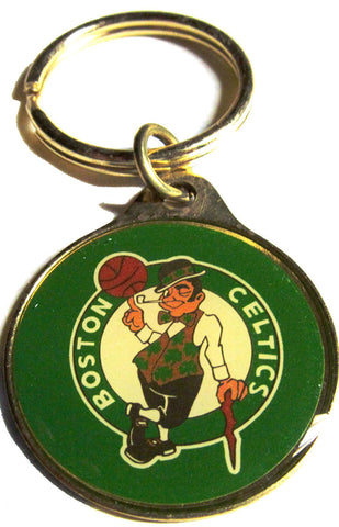 Boston Celtics brass key ring - Sports Nut Emporium