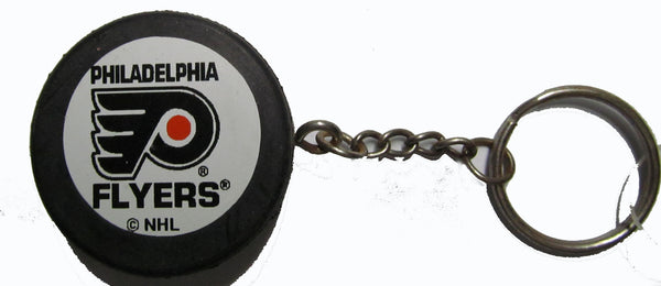 Philadelphia Flyers hockey puck key ring - Sports Nut Emporium