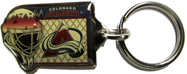 Colorado Avalanche Goalie mask brass key ring - Sports Nut Emporium