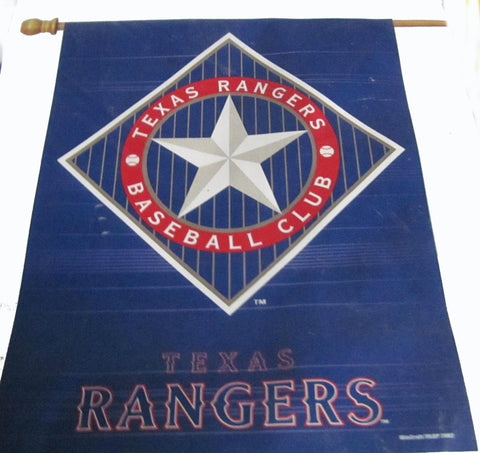 Texas Rangers vertical flag - Sports Nut Emporium