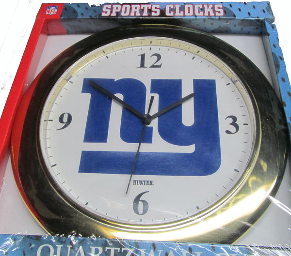 New York Giants gold ring wall clock - Sports Nut Emporium