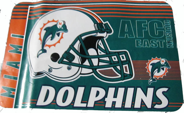 "Miami Dolphins 20X30"" welcome mat - Sports Nut Emporium"
