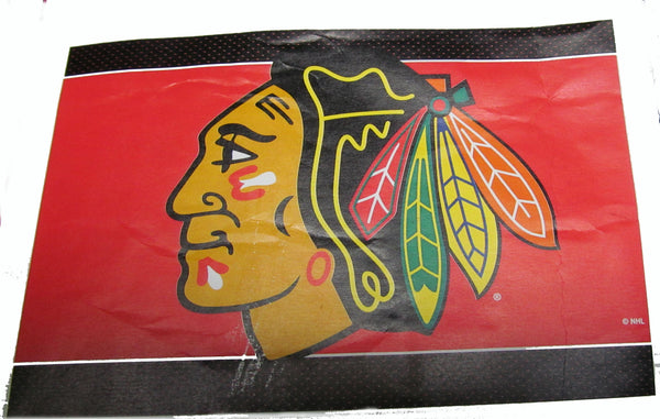 "Chicago Blackhawks 24 X 36"" welcome mat - Sports Nut Emporium"