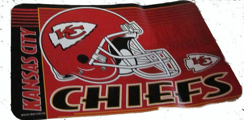 "Kansas City Chiefs 20 X 30"" welcome mat - Sports Nut Emporium"