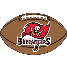 Tampa Bay Buccaneers football shaped mat - Sports Nut Emporium