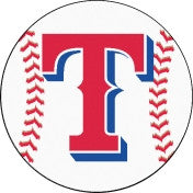 Texas Rangers baseball floor mat - Sports Nut Emporium