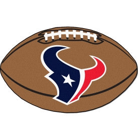 Houston Texans football shaped mat - Sports Nut Emporium