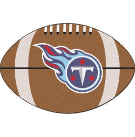 Tennessee Titans Football shaped mat - Sports Nut Emporium