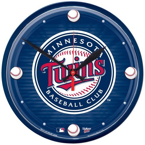 Minnesota Twins wall clock - Sports Nut Emporium