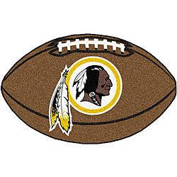 Washington Redskins football shaped mat - Sports Nut Emporium