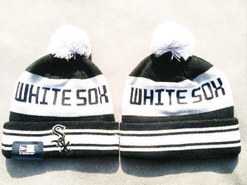 Chicago White Sox New Era Logo Stitched Knit Beanies 002 - Sports Nut Emporium