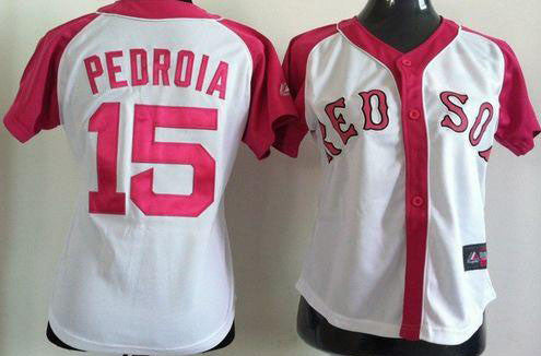 Dustin Pedroia # 15 Boston Red Sox pink lady jersey - Sports Nut Emporium