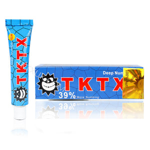 TKTX UK 39% Blue Numbing Cream Anesthetic 3-4 hours Fast Semi Permanent Skin Body Duration 10g
