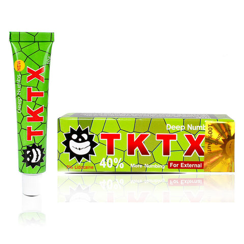 TKTX UK 7% Lidocaine Green Numbing Cream Anesthetic 4-5 hours Fast Semi Permanent Skin Body Duration 10g