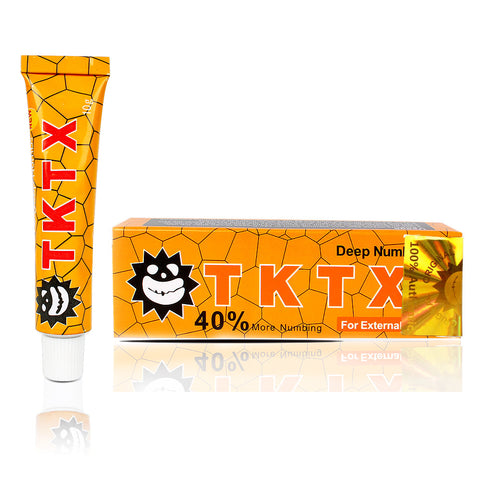 TKTX UK 40% Yellow Numbing Cream Anesthetic 4-5 hours Fast Semi Permanent Skin Body Duration 10g
