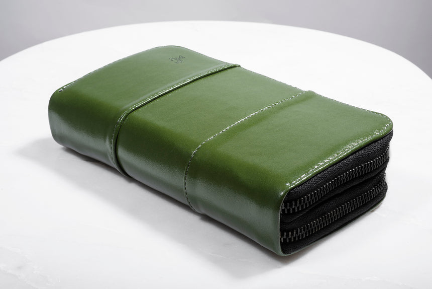 Verde Double Zipper Wallet