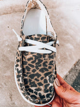 Load image into Gallery viewer, Cow Print Lace Up Sneakers
