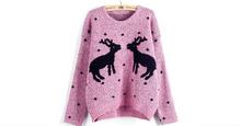 Load image into Gallery viewer, Christmas Sweater Women Reindeer Knitted Pullovers O-neck Long Sleeve Women Sweaters(BUY 2 FREE SHPPING!)