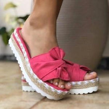 Load image into Gallery viewer, Bow-Knot slippers with thick soles platform sandals(BUY 2 FREE SHIPPING!!!!)