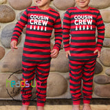 matching cousin crew pajamas for the whole family. boy girl kids baby infant youth toddler adult cousins funny cute popular best seller unisex fast shipping photo op clothing instagram nana grandma mimi grandkids grandchildren cousin cousins popular best seller fast shipping red christmas holiday sleepwear morning pj's clothing
