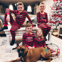 Cousin crew snowflake pajamas matching Christmas pajamas family boy girl baby infant kids youth toddler adult cotton washable pajamas best seller popular red stripes zipper 2 piece pj pj's pajamas sleepwear