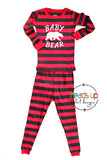 baby bear 2 piece pajamas 100% cotton comfortable washable matching bear pajamas sibling family cousins kids child teen youth adult. mama bear papa bear. Christmas holiday sleepwear pajamas pj's boy girl unisex grandma gift fast shipping 2 3 4 5 6 7 8