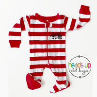 baby covid christmas crew pajamas pj's coronavirus covid covid-19 stay home quarantine social distance pj's funny humor family matching pajamas december holidays one piece matching family cousins friends neighbors infant comfortable sleepwear leveret striped pajamas pj's