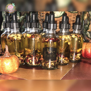 Sacred Yoni Crystal and  Rose Infused Oil