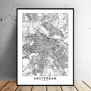 Amsterdam City Map - Bad Bixch Decor