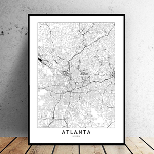 Atlanta City Map - Bad Bixch Decor
