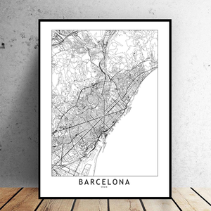 Barcelona City Map - Bad Bixch Decor