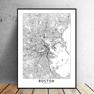 Boston City Map - Bad Bixch Decor