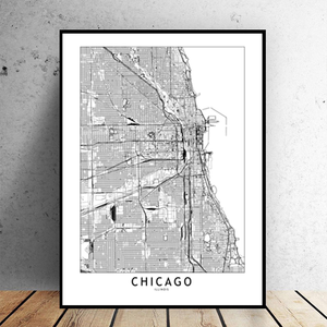 Chicago City Map - Bad Bixch Decor