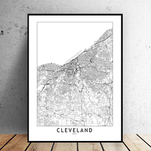 Cleveland City Map - Bad Bixch Decor