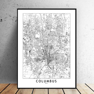 Columbus City Map - Bad Bixch Decor