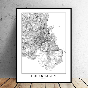 Copenhagen City Map - Bad Bixch Decor