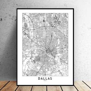 Dallas City Map - Bad Bixch Decor