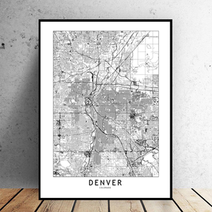 Denver City Map - Bad Bixch Decor