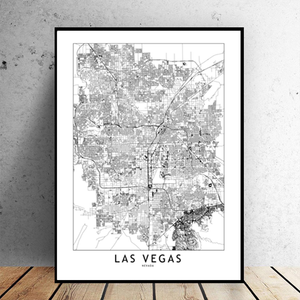 Las Vegas City Map - Bad Bixch Decor