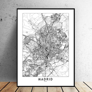 Madrid City Map - Bad Bixch Decor